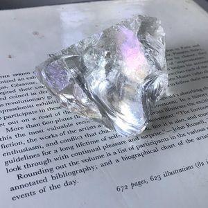 Angel aura titanium coated glass crystal